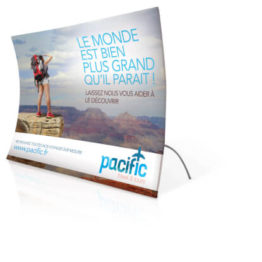 mur image vertical courbe 3D