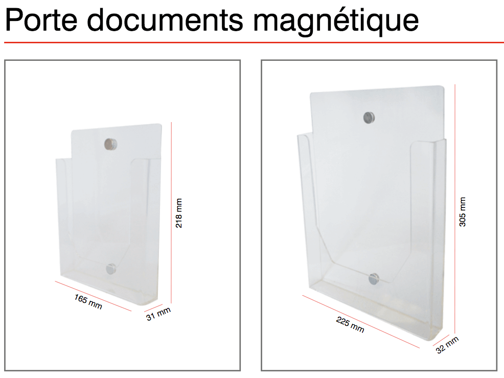 Porte brochure magnetique a5 a4 alain primeur - Porte photo magnetique ...