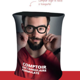 Comptoir accueil stand rectangle